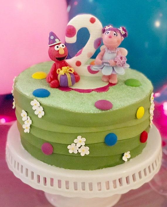 Elmo Cake Topper Elmo And Abby Birthday Cake Topper Sesame Street Party Theme