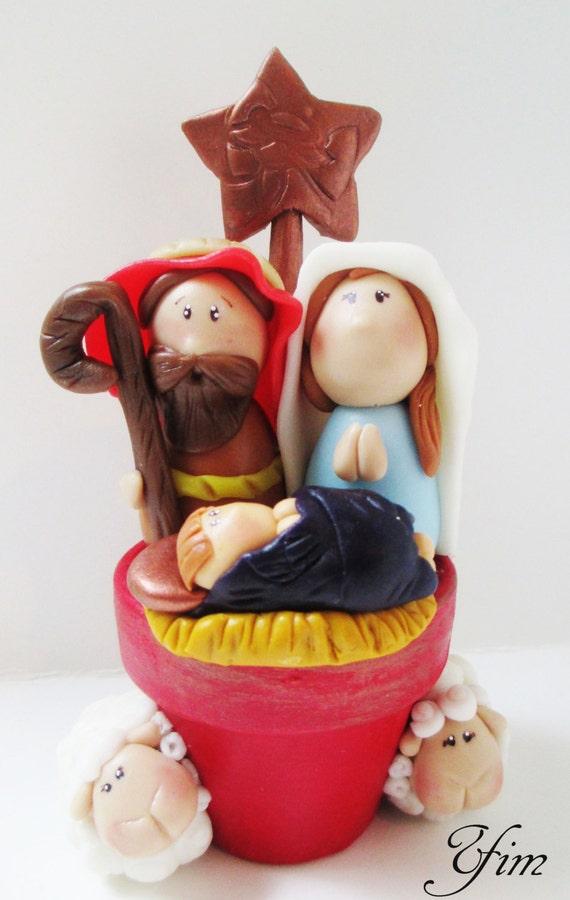 Clay Nativity Decor Holiday Decor Christmas Decor Clay   Etsy