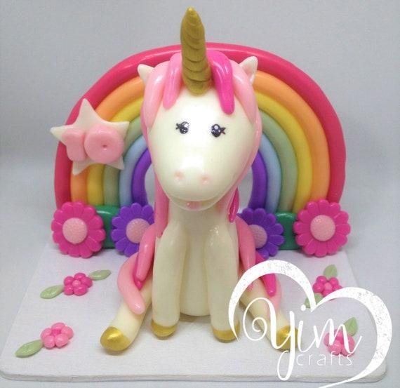 Unicorn Baby Shower Rainbow Unicorn keepsake Unicorn Birthday Unicorn Fondant Unicorn Cake Topper Unicorn Cold Porcelain Unicorn Party