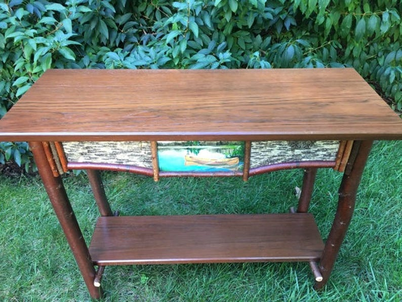 Fabulous Birch Sofa Table Squirreltailoven Fun Painted Chair Ideas Images Squirreltailovenorg
