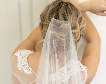 English Net Wedding Veil- Barely There