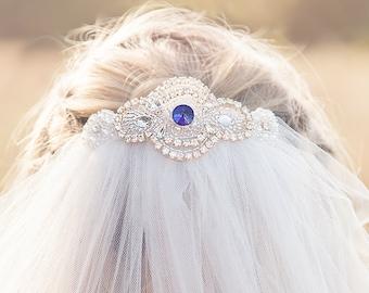 Sapphire Wedding Veil | Ruby, Emerald