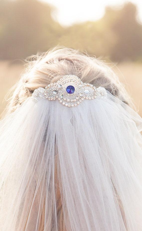 Sapphire Wedding Veil Ruby Emerald Etsy