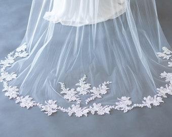 Lace Applique Veil - The Erin
