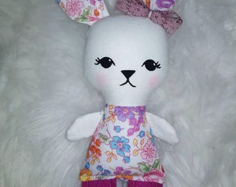 REDUCED - Itsy bitsy baby bunny doll - handmade rabbit softie