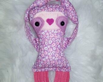 REDUCED- Itsy bitsy baby sloth doll