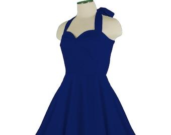 CALLISTA Navy Blue Rockabilly Swing Rock 'n Roll Dress//Full Circle Navy Dress//Retro 50s Style Dress//Bridesmaid, Party Dress XXS-3X