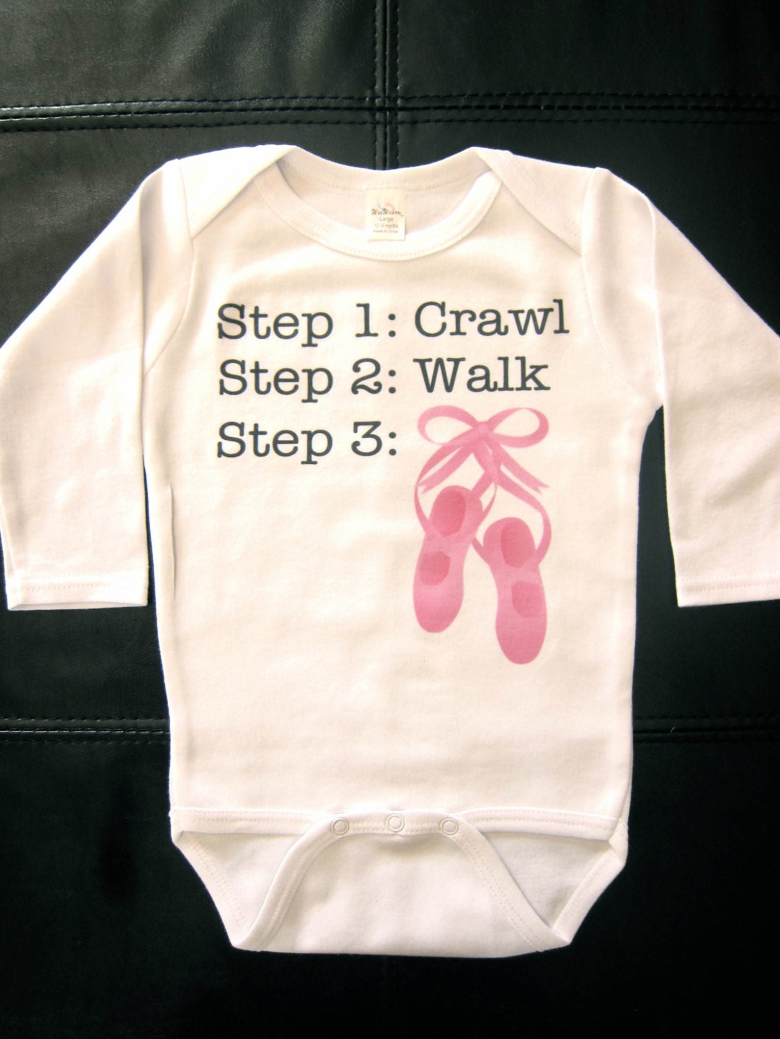 cute ballet dance step 1 crawl step 2 walk step 3 dance ballerina