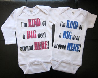 girl or boy I'm kind of a big deal around here novelty funny cute one piece