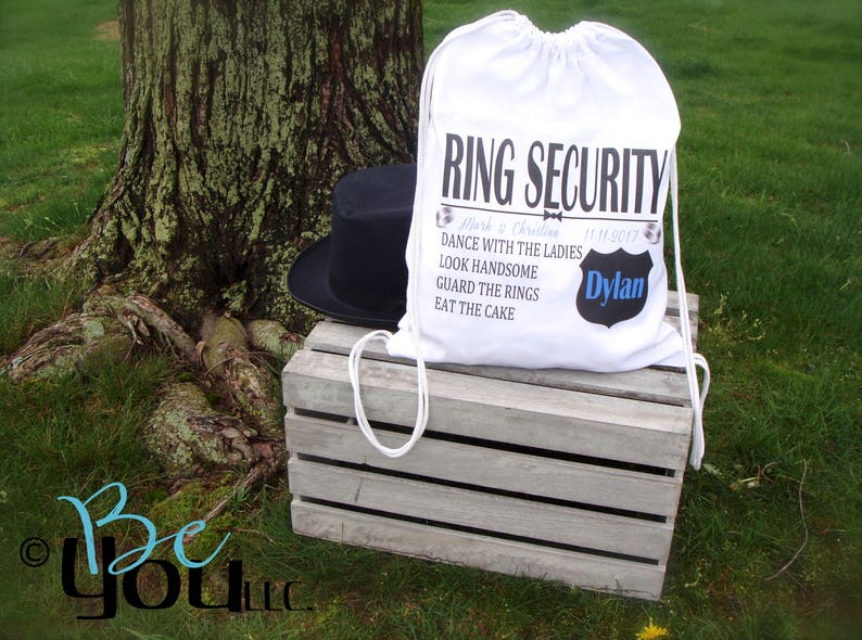 RING SECURITY; ring bearer gift; ring bearer bag; backpack; ring security gift; personalized gift; wedding party gifts; wedding; 100