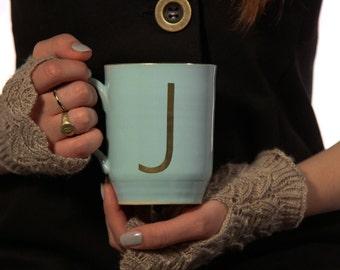 Large Coffee Mug ,Initial Mug, Monogram Mug, Ceramic Mug, Coffee Lovers, Personalized Mug, Custom Mug, His and Hers Mugs, Free Shipping