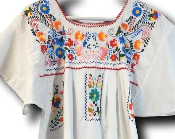 Puebla dress for woman