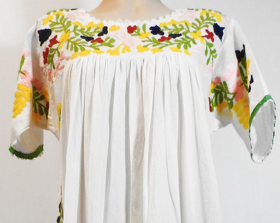 Off white embroidered maxi dress