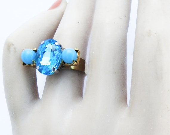 Women's blue ring