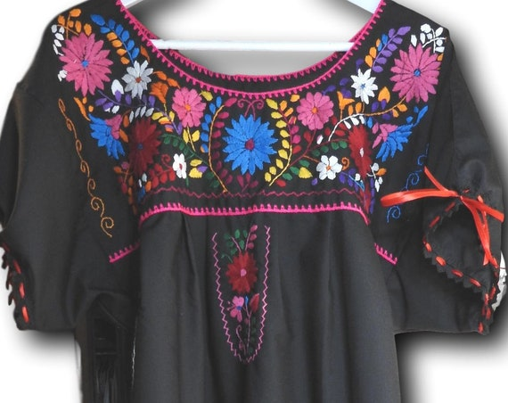 Black mexican dress
