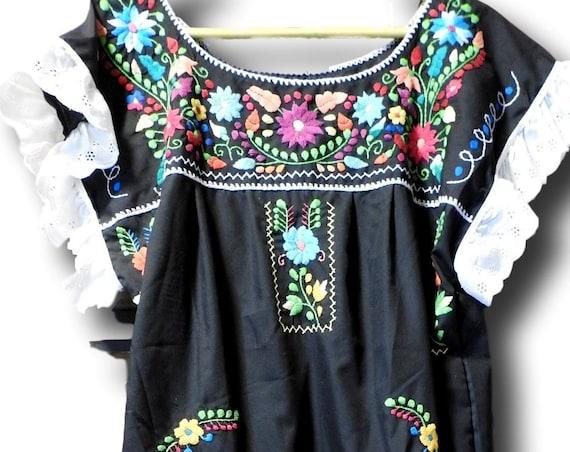 Black Mexico dress