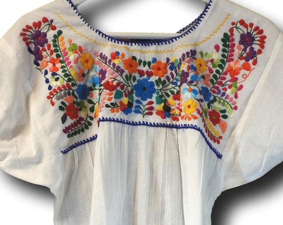 White hand embroidered Mexican blouses