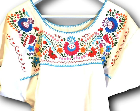 Plus size Mexican top for women