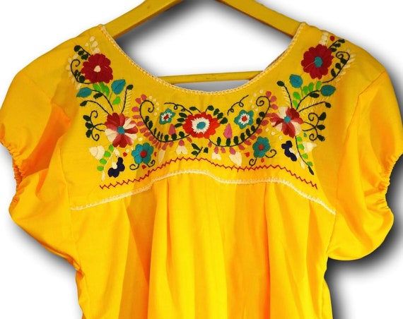 Bright Mexican fiesta blouse