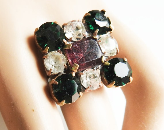 Square GREEN JEWELRY RING for women