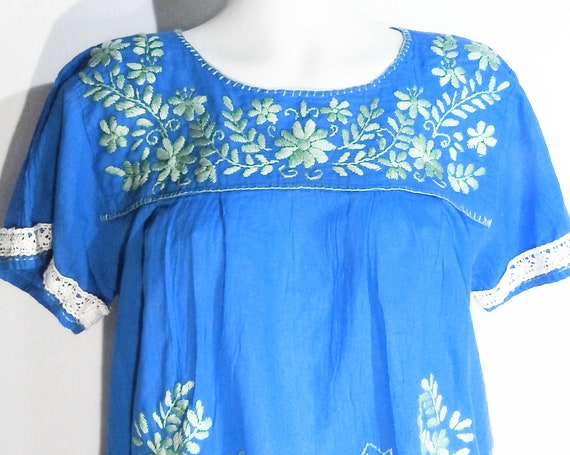 Mexican style peasant blouse