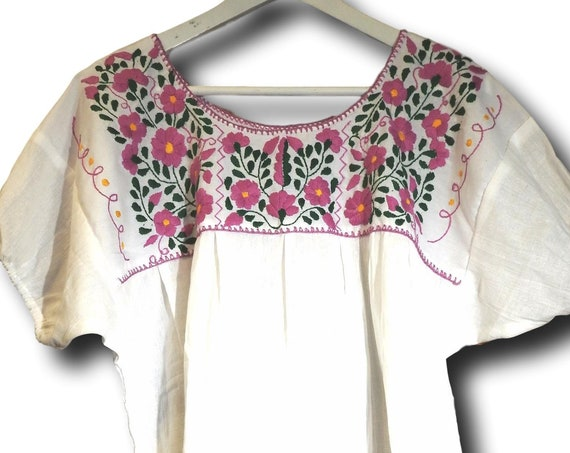 White Mexican cotton blouse