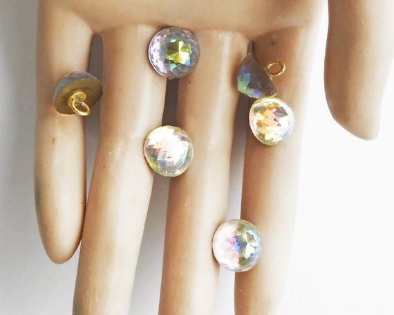 Crystal buttons for wedding dress