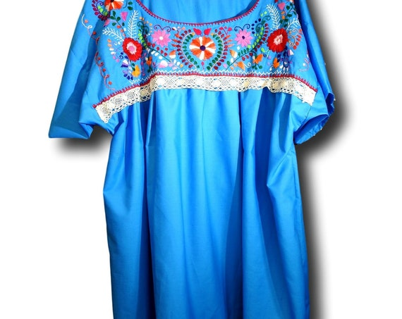 Embroidered Mexican fiesta blouse