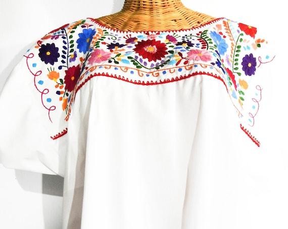 Plus size Mexican peasant blouse