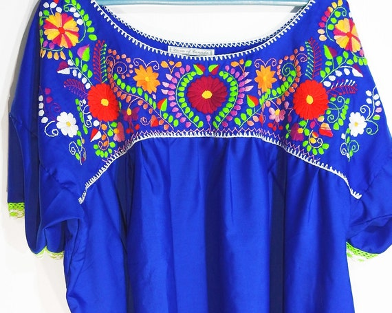Plus size Mexican peasant blouse,  embroidery Bohemian Fiesta women's fashion Mexican style tops for ladies clothing top embroidered
