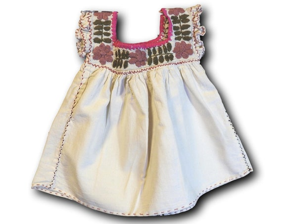 Baby girl mexican embroidered dress