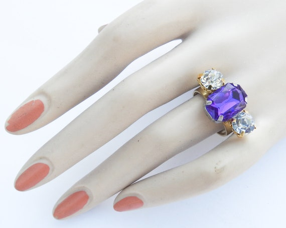 Handmade purple stone ring