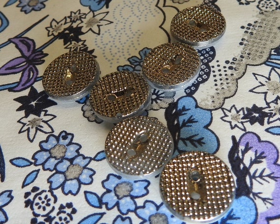 Textured glass vintage  buttons