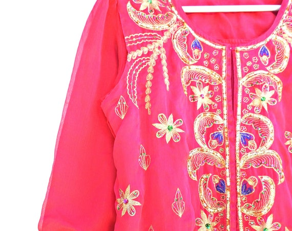 Hippie style embroidered kurta