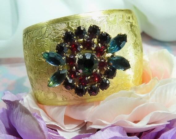 Unique glass cuff bracelet