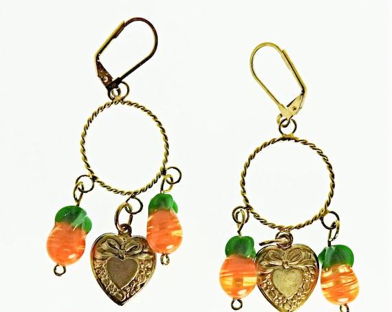 Cute fruit earrings