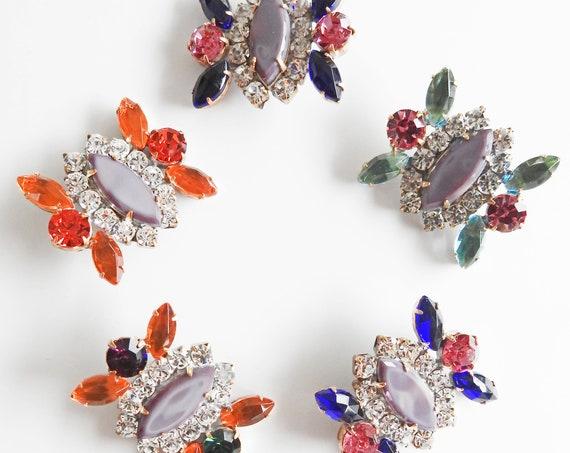 Purple vintage glass buttons