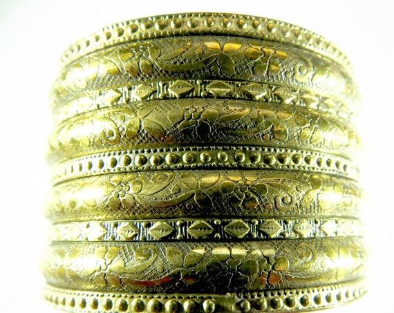 Boho style large metal cuff bracelet