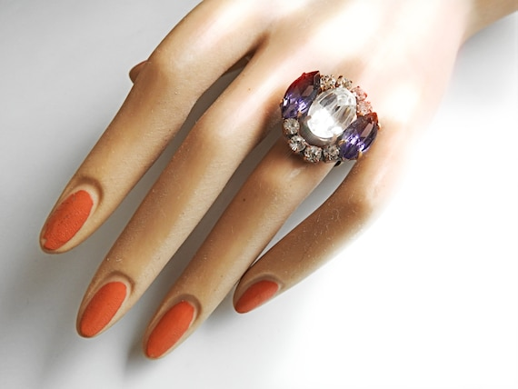 Crystal ring jewelry for women
