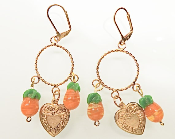 Cute fruit earrings