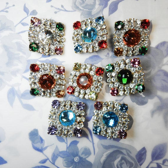 Elegant jeweled buttons