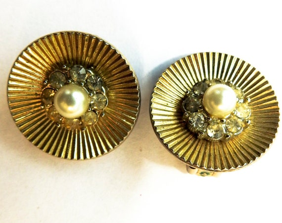 Coro jewelry clip earrings