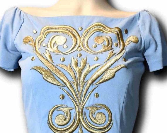 Sky blue short dress 60s vintage