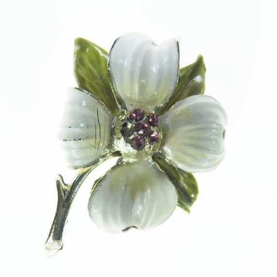 White vintage broach flower