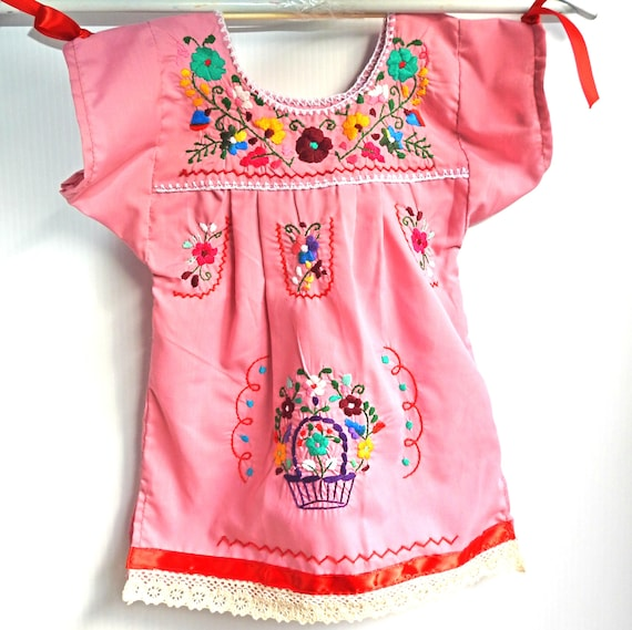 Pink baby mexican outfit