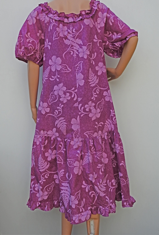 Vintage Hawaiian muumuu dress plus size