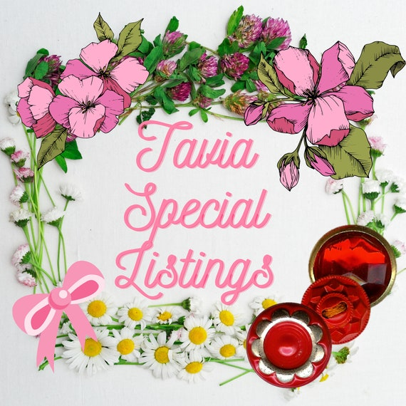 TAVIA SPECIAL listing January 12 -  Glass buttons