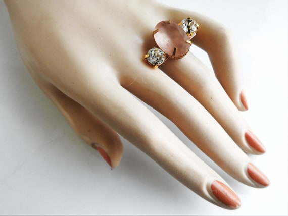 Milky stone ring vintage style