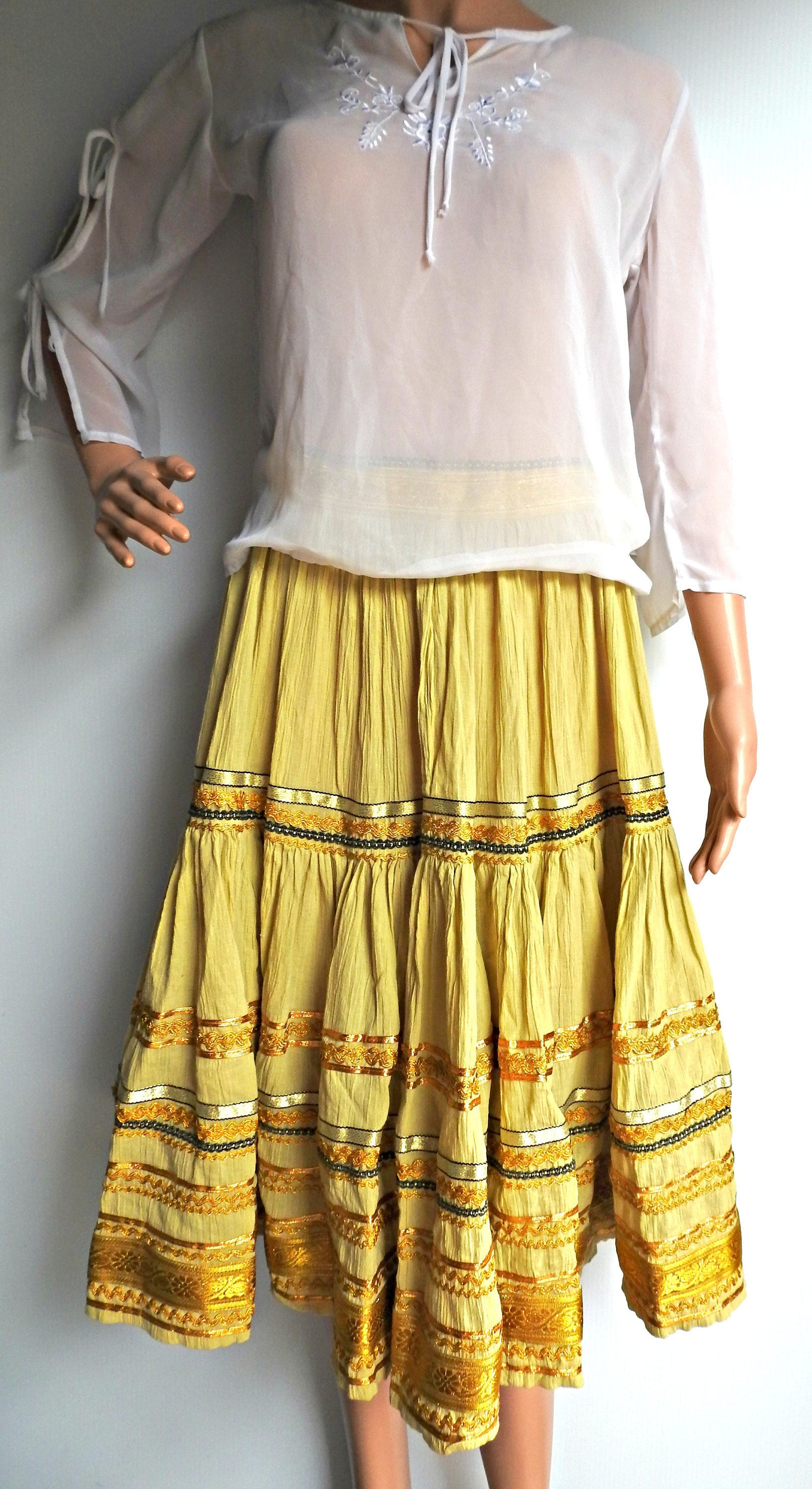 ac1e7be846992 Esmeralda style skirts, Ladies Chiffon Skirts Long, Maxi Skirts Summer ...