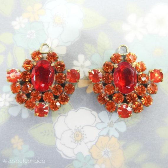 Cute orange glass charms